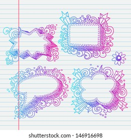 Doodle banners for sale in e-shop or normal store. You can make design for any promo actions