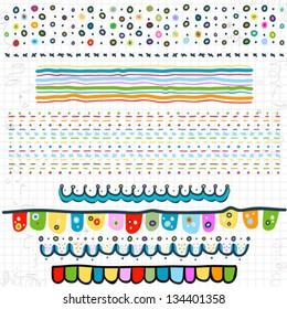 doodle-Ränder auf der Seite mit Skripten