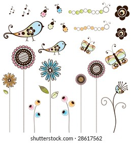 Doodle Bugs Flowers and Birds