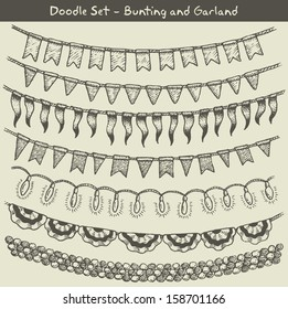 Doodle bunting and garlands