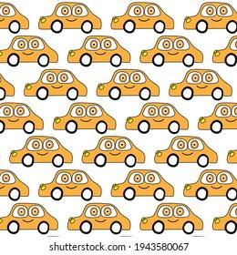 doodle car pattern background  design  vector eps.10
