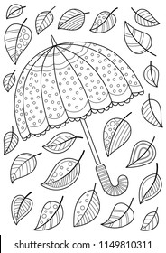 doodle coloring book page umbrella 260nw