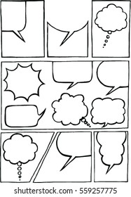 Doodle of comic bubble speech. Vector illustration