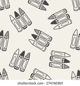 Doodle Crayon seamless pattern background