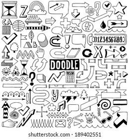 Doodle design elements. Vector illustration.
