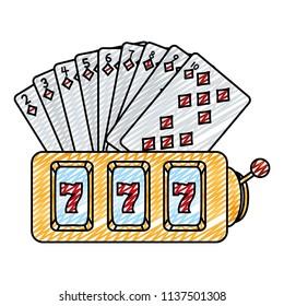 doodle diamonds cards and casino slot machine