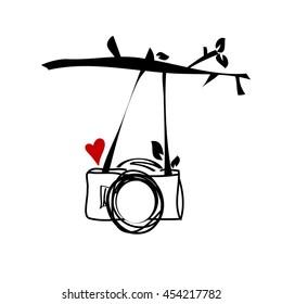doodle digital camera illustration