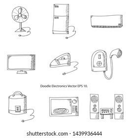Doodle Electronics Vector Illustrator EPS 10.
