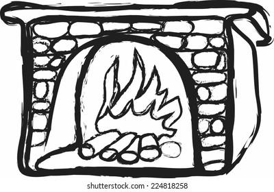 doodle fireplace