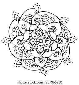 Doodle flower vector illustration