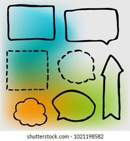 Doodle frame gradien background