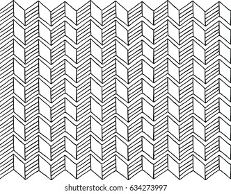 Doodle of geometrical seamless pattern ,vector illustration