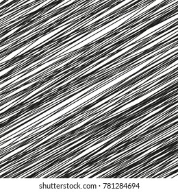 Doodle hand drawn abstract pattern made with black lines