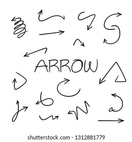 doodle and hand drawn arrows vector illustration