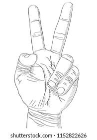 Doodle Hand Vector Line Sketched UP, Vector Illustration EPS 10.
