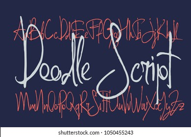 Doodle handcrafted thin script font