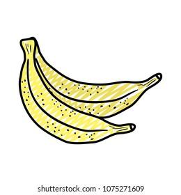 doodle healthy bananas delicious organic fruit