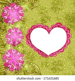 Doodle heart. Happy Valentine's day vector illustration