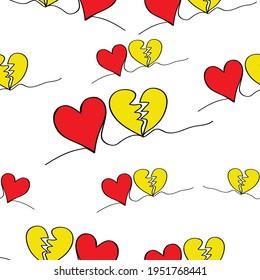 doodle  heart   seamless patten background vector eps.10