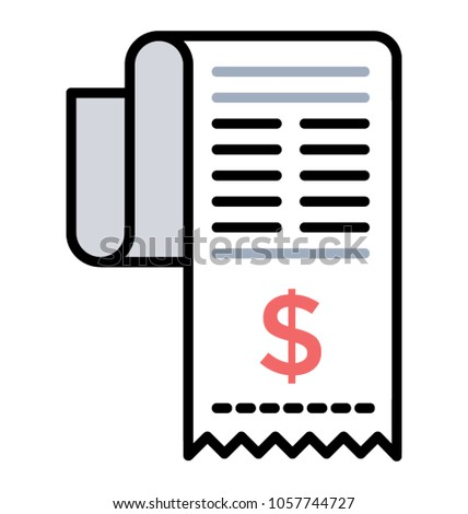 doodle icon billing sheet invoice stock vector royalty free