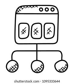 A doodle icon design of sitemap diagram