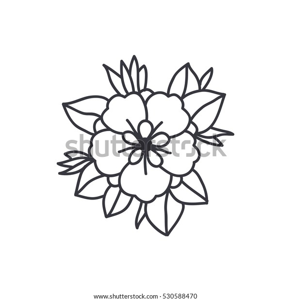 1af84a69f Doodle Icon Flower Traditional Tattoo Flash Stock Vector (Royalty ...