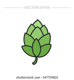doodle icon. hop. vector illustration
