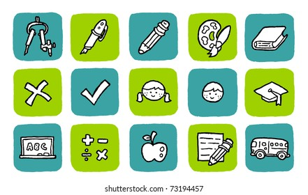 doodle icon set - education