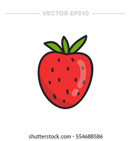 doodle icon. strawberry. vector illustration