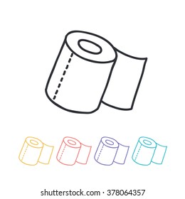 doodle icon. toilet paper. vector illustration