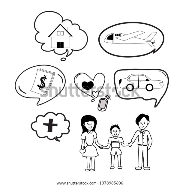 doodle icon vector cartoon drawing family stock vector royalty free 1378985606 https www shutterstock com image vector doodle icon vector cartoon drawing family 1378985606