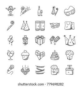 Doodle Icons Pack Of Celebration And Party