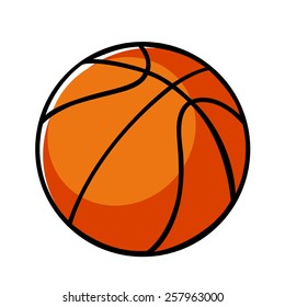 Doodle illustration of a basket ball