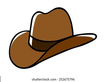 Doodle illustration of a cowboy hat