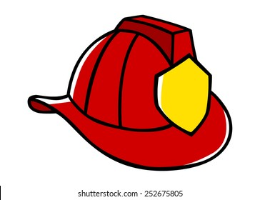 Doodle illustration of a firefighter helmet