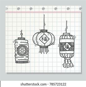 doodle lampion set