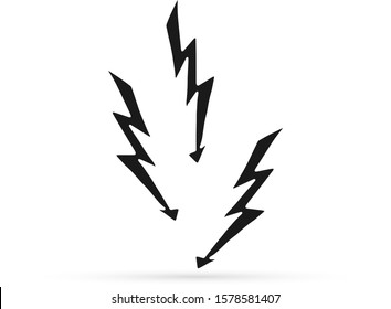 doodle lightning vector icon thunder charging stock vector royalty free 1578581407 shutterstock