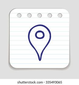 Location Icon Sketch Images, Stock Photos & Vectors
