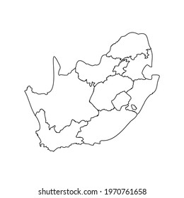 Doodle Map of South Africa With States