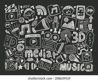 doodle media background
