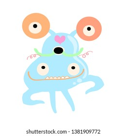 doodle monster  for your design  and   print cartoon vector eps.10