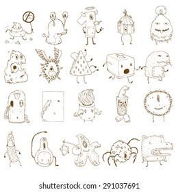 Doodle Monster_line drawing