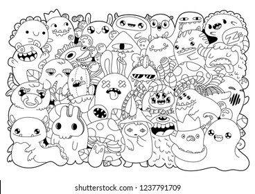 Kawaii Coloring High Res Stock Images Shutterstock