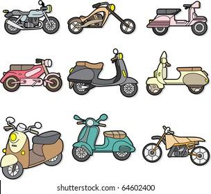 doodle motorcycle element
