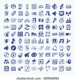doodle music icons