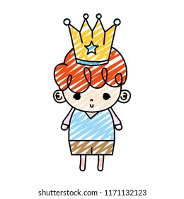 doodle nice boy child with metal crown