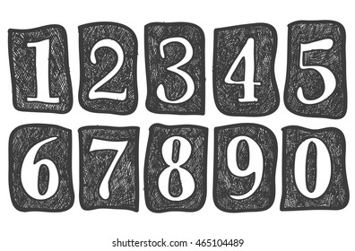 Pencil doodles effect set doodle alphabet stock vector hd royalty