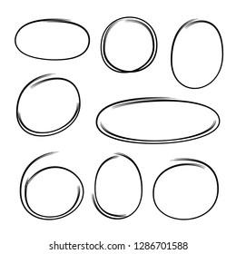 doodle oval marker elements
