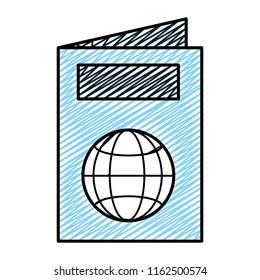 doodle passport id document international travel