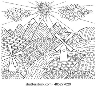 Psychedelic Coloring Book Images, Stock Photos & Vectors ...